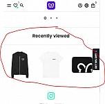 Recently viewed add on desktop location spammy