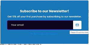 Newsletter pop-up form redesign
